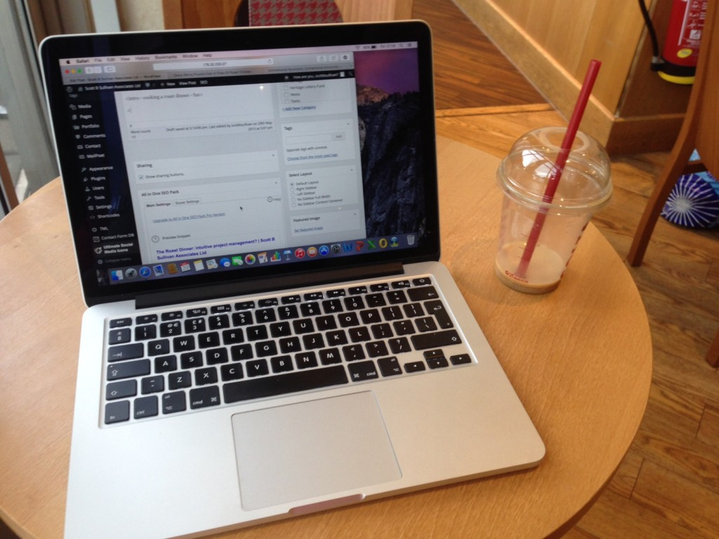 Coffee and Wi-Fi: Getting away from the office cubicle...